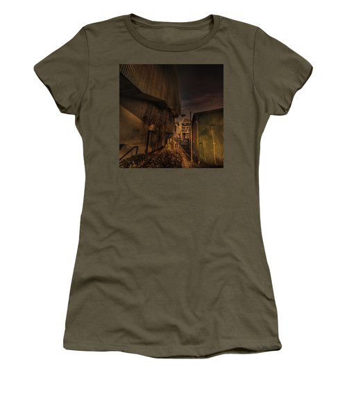 Women's T-Shirt featuring the photograph Emily Carr Alley by Juan Contreras