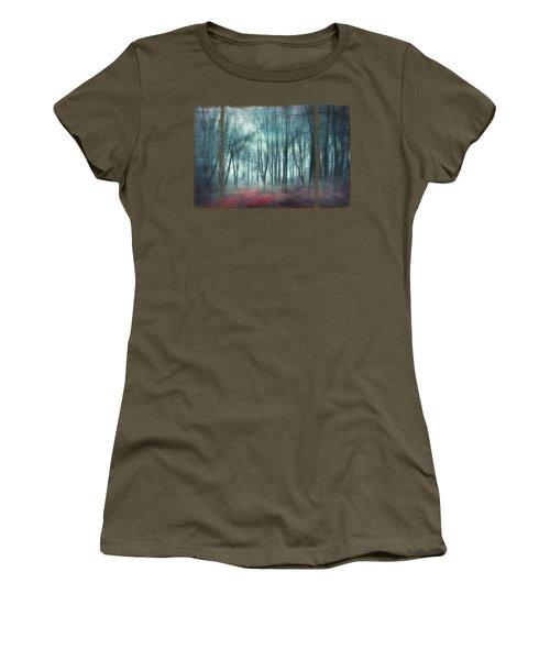 Escape Route - Misty Forest Scenery Women's T-Shirt