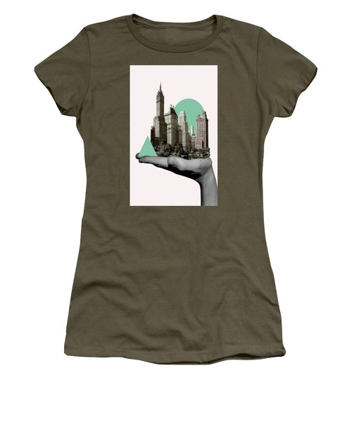 Exquisite Buildings On Palm Women's T-Shirt