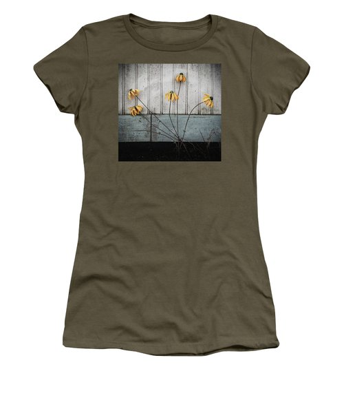 Women's T-Shirt featuring the photograph Fake Wilted Flowers by Steve Stanger
