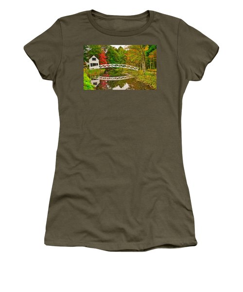 Fall Footbridge Reflection Women's T-Shirt