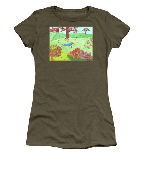 Falling Leaves Women's T-Shirt