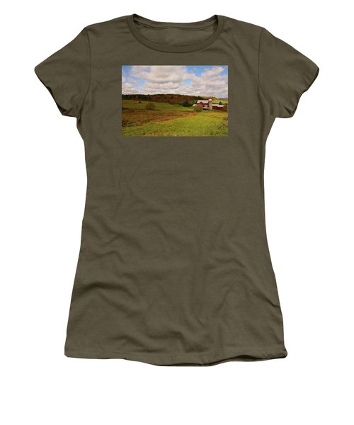 Women's T-Shirt featuring the photograph Farmland In Autumn by Angie Tirado