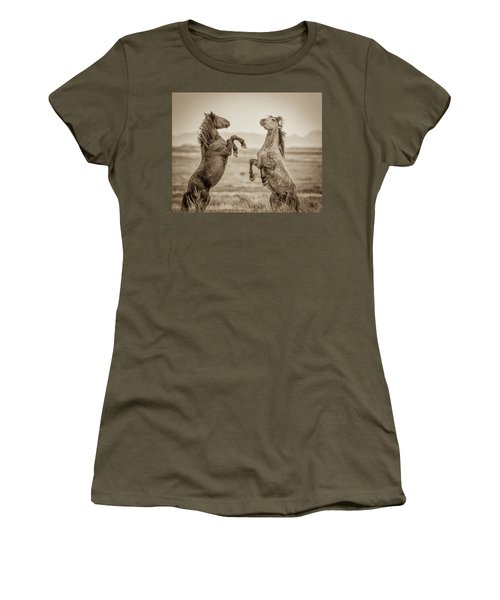 Fighting Stallions 2 Women's T-Shirt