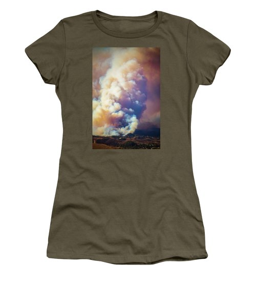 Women's T-Shirt (Athletic Fit) featuring the photograph Fire Power by Lynn Bauer