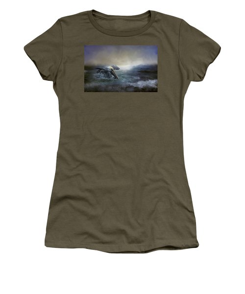 Fishing In The Storm Women's T-Shirt