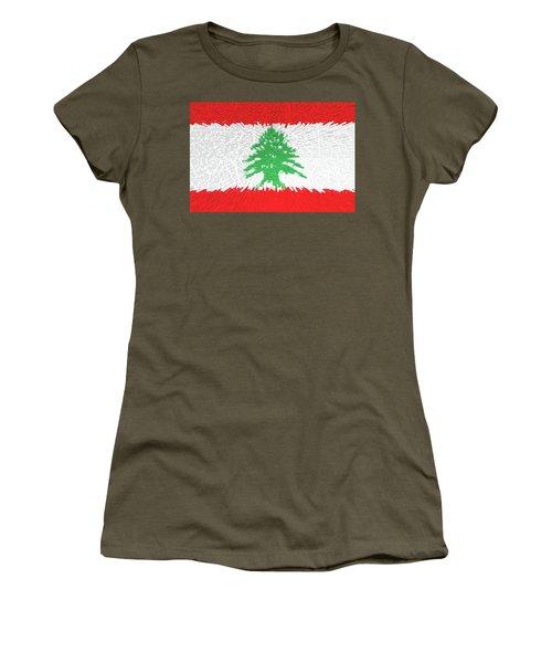 Flag Of Lebanon - Extruded Women's T-Shirt