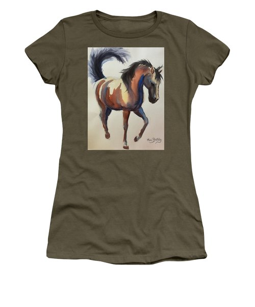 Flashing Bay Horse Women's T-Shirt
