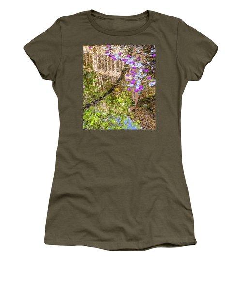 Floating Magnolia Petals Women's T-Shirt