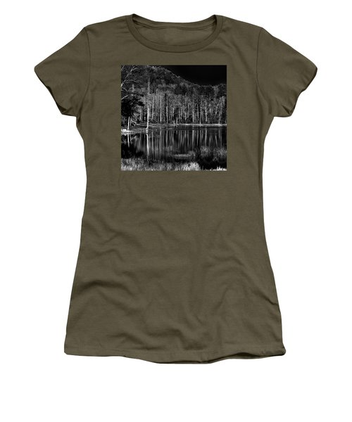 Women's T-Shirt featuring the photograph Fly Pond Reflection by David Patterson