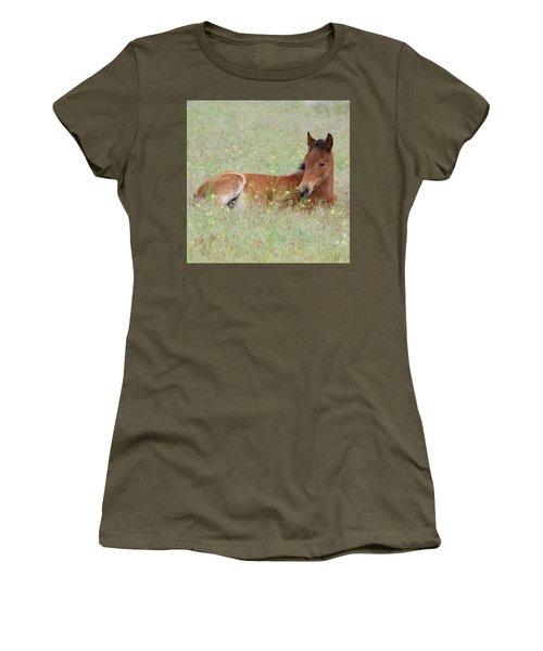 Foal In The Flowers Women's T-Shirt