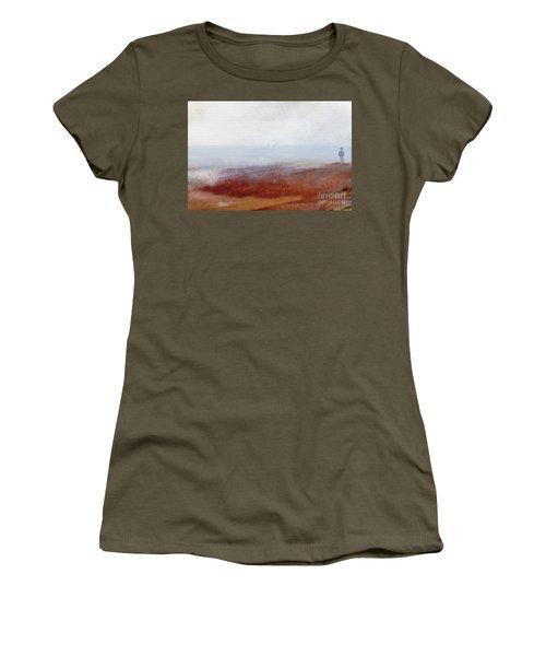 Foggy Beach Walk Women's T-Shirt