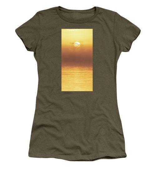Foggy Wetlands Sunrise Women's T-Shirt