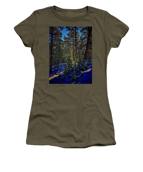 Women's T-Shirt featuring the photograph Forest Shadows by Dan Miller