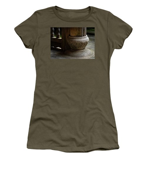 Foundation Stone Under Wooden Pole Used In Chinese Architecture Women's T-Shirt