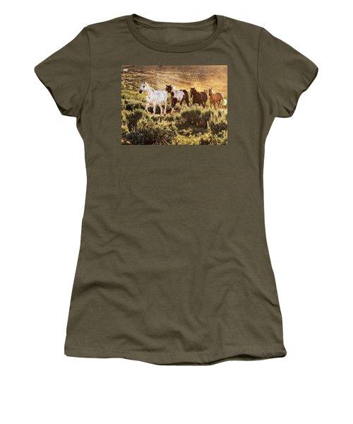 Galloping Down The Mountain Women's T-Shirt