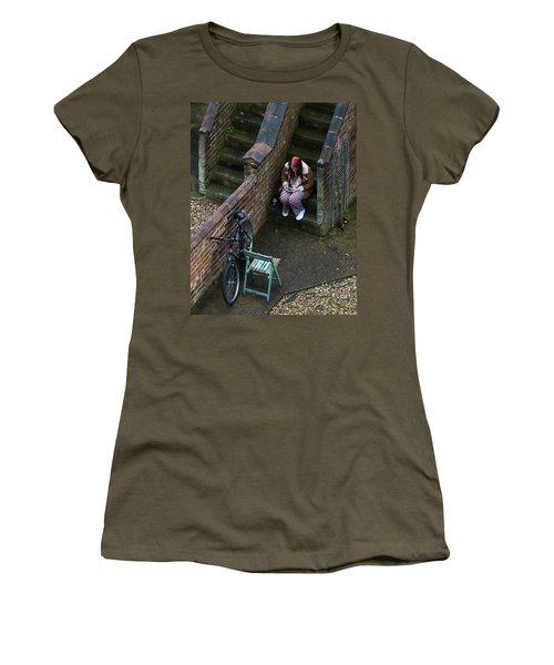 Girl On A Phone Women's T-Shirt
