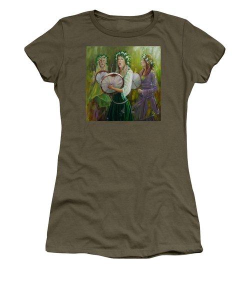 Goddess Drummers Women's T-Shirt