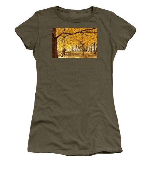 Golden Ginkgo Women's T-Shirt