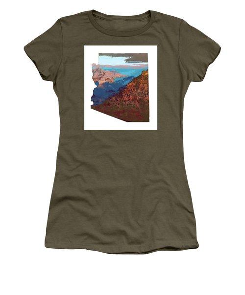 Grand Canyon In The Shape Of Arizona Women's T-Shirt