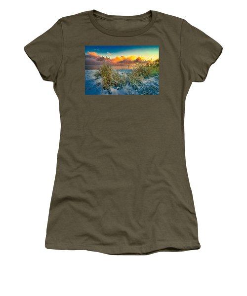 Grass And Snow Sunrise Women's T-Shirt