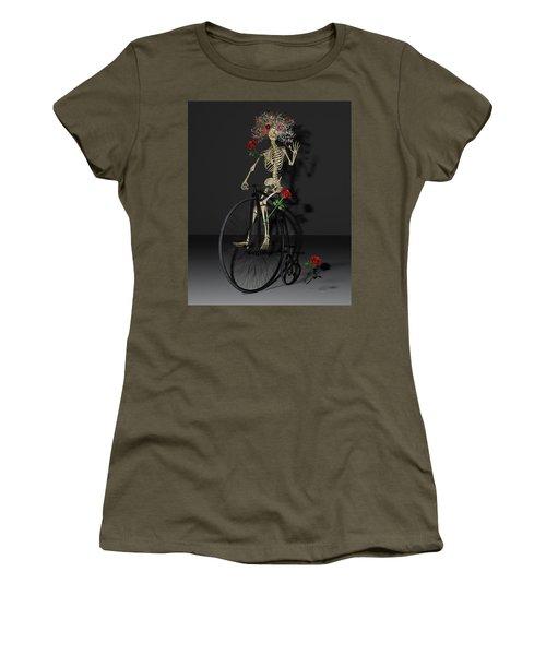 Grateful Penny Farthing Skeleton Women's T-Shirt