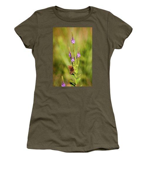 Gray Copper On Blazing Star Women's T-Shirt