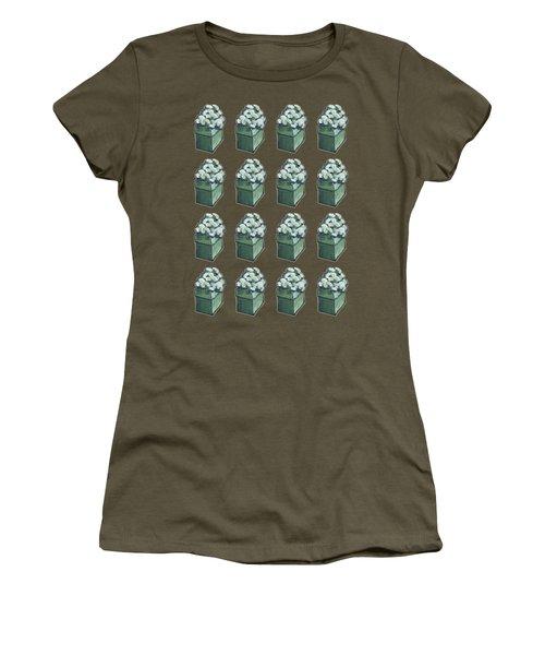 Green Present Pattern Women's T-Shirt