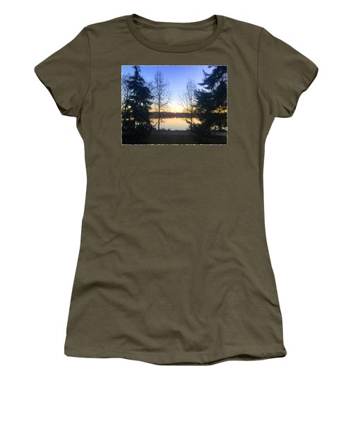 Greenlake Dawn Evergreens Women's T-Shirt