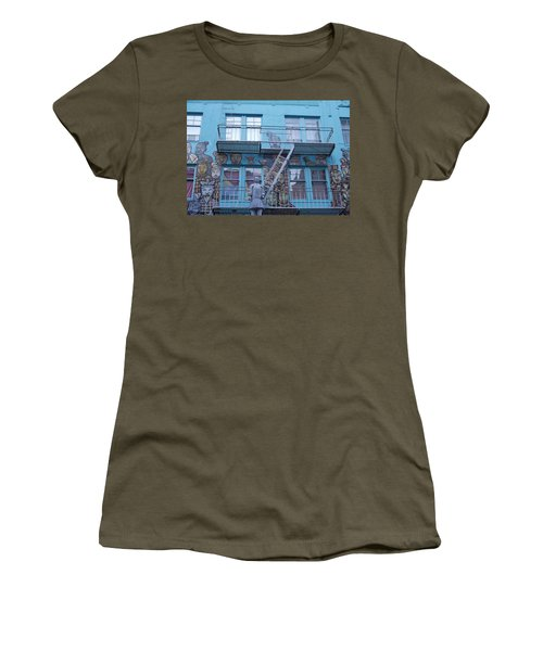 Guarding The Stairs Women's T-Shirt