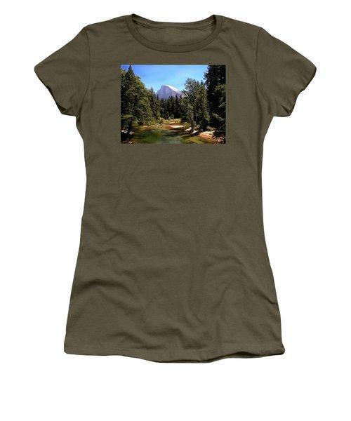 Half Dome From Ahwanee Bridge - Yosemite Women's T-Shirt