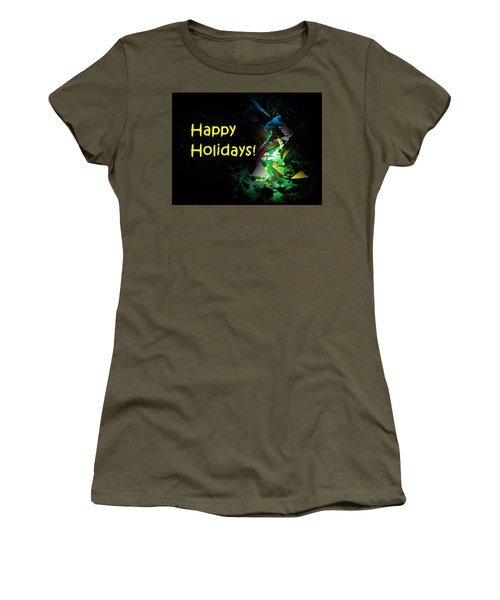 Women's T-Shirt featuring the digital art Happy Holidays - 2018-7 by Ludwig Keck
