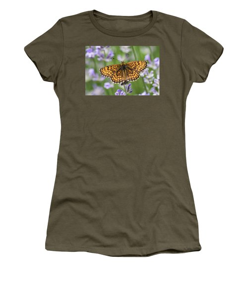 Heath Fritillary On The Lavender Women's T-Shirt