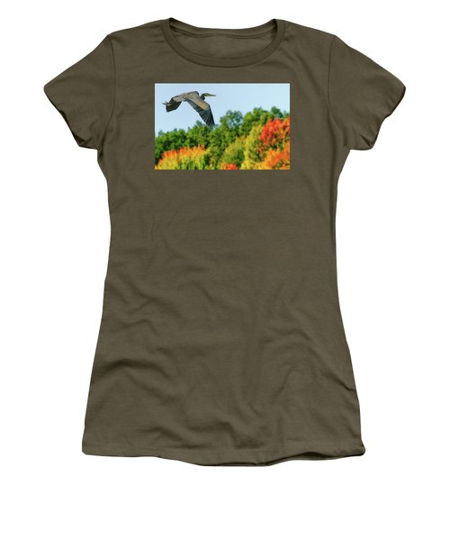 Heron In Autumn  Women's T-Shirt