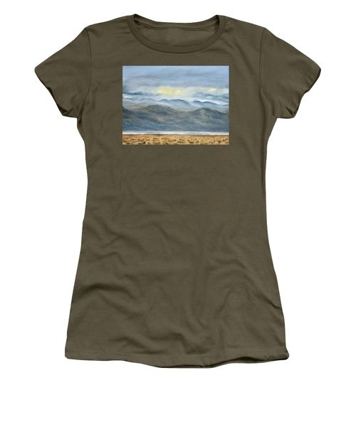 Women's T-Shirt featuring the painting High Desert Morning by Kevin Daly