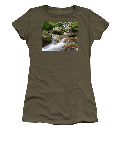 Women's T-Shirt featuring the photograph Hogcamp Branch Falls I by William Dickman