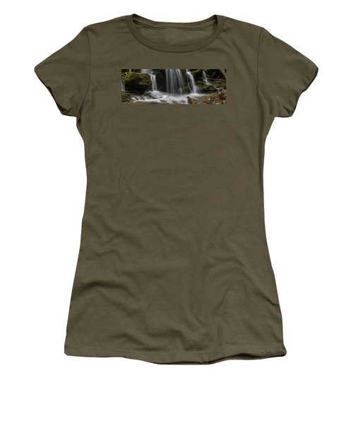 Women's T-Shirt featuring the photograph Hogcamp Branch Falls Vi 3x1 by William Dickman
