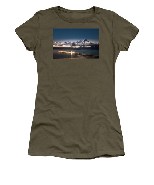 Homer Spit With Moonlit Mountains Women's T-Shirt