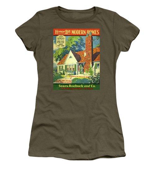 Honor Bilt Modern Homes Sears Roebuck And Co 1930 Women's T-Shirt