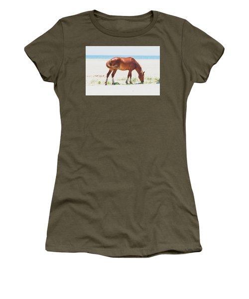 Horse On Beach Women's T-Shirt