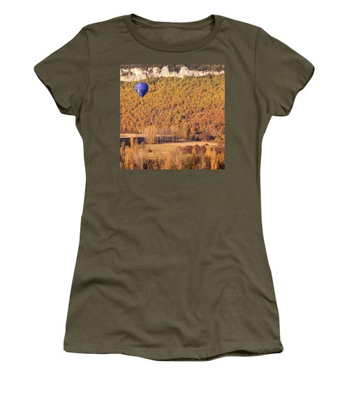 Hot Air Balloon, Beynac, France Women's T-Shirt