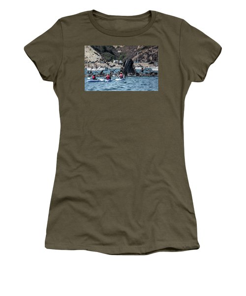 Humpbacks In Avila Harbor Women's T-Shirt