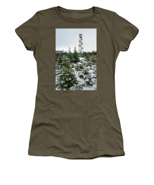 Hunter Mountain Fire Tower Women's T-Shirt