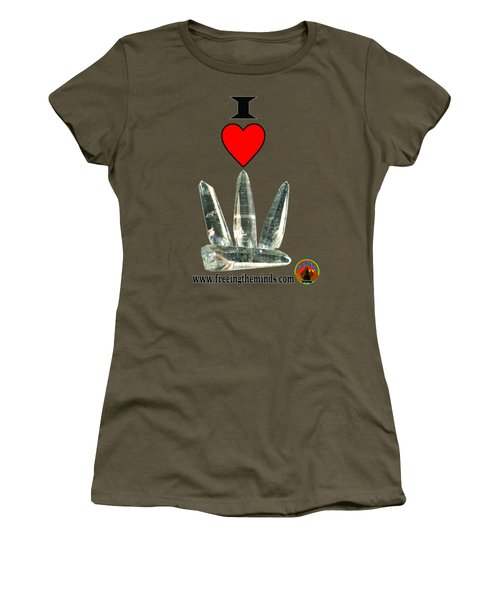 I Love Lemurian Seed Crystals Women's T-Shirt