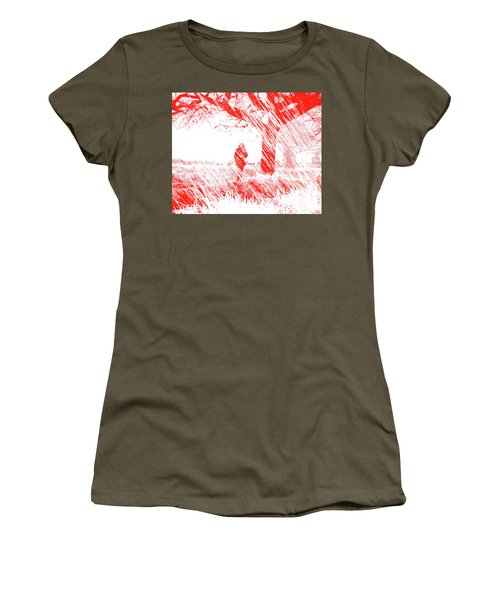 Icy Shards Fall On Setttled Snow Women's T-Shirt