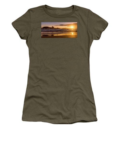 Idyllic Sunrise In Copacabana Beach In Rio De Janeiro, Brazil Women's T-Shirt