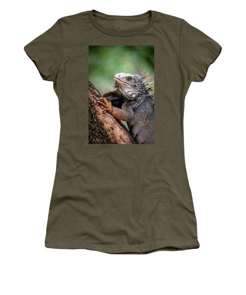 Women's T-Shirt featuring the photograph Iguana's Portrait by Francisco Gomez