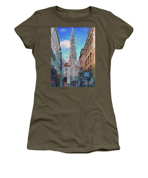 In-spired  Street Scene Brussels Women's T-Shirt