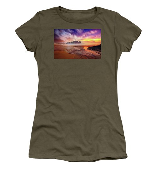 Incoming Tide At Sunset Women's T-Shirt