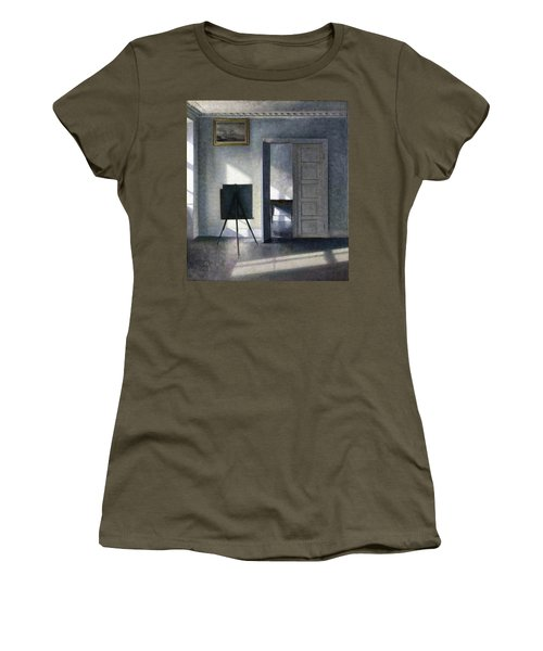 Interior With The Artists Easel - Digital Remastered Edition Women's T-Shirt